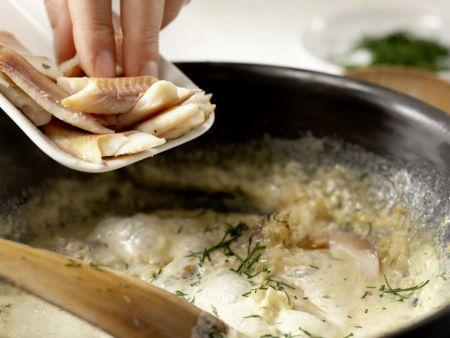 Pasta mit geräucherter Forelle: Zubereitungsschritt 7