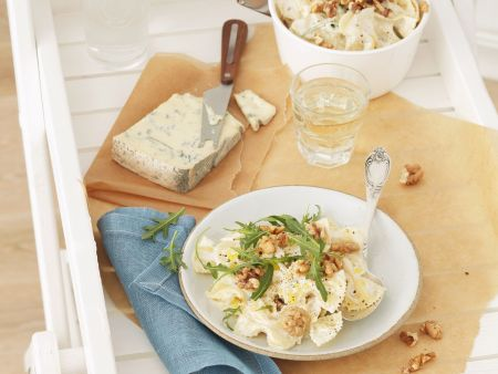 Pasta mit Gorgonzola-Walnuss-Soße