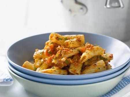 Rezept: Pasta mit rotem Pesto