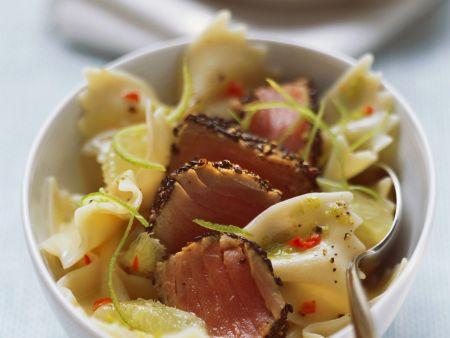 Rezept: Pasta mit Thunfisch und Limettenzesten