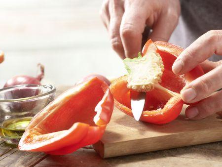 Pasta mit Walnuss-Tomaten-Pesto: Zubereitungsschritt 4