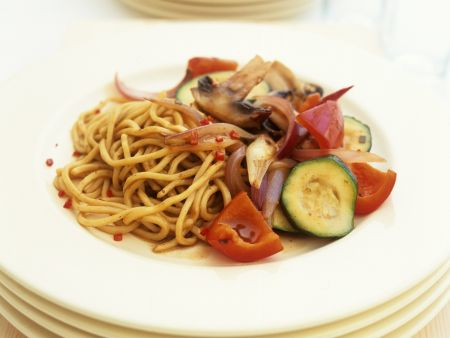 Rezept: Pastapfanne mit Gemüse