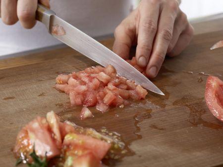 Pastete mit Auberginen und Rosmarinkartoffeln: Zubereitungsschritt 5