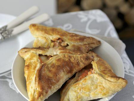 Pasteten mit Schellfisch-Lachs-Füllung