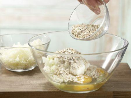 Pastinakenpuffer mit Dip: Zubereitungsschritt 3