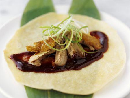 Rezept: Pekingente mit Pfannkuchen