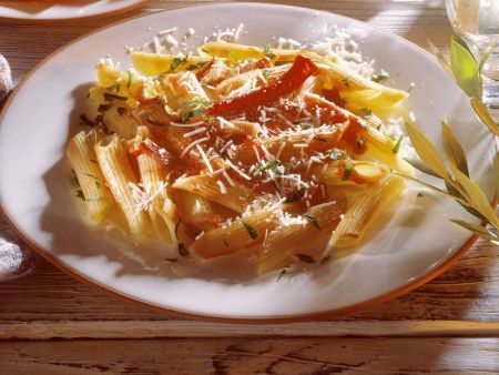 Penne mit Chilisauce