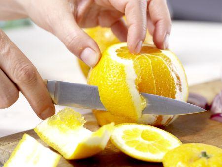Pfannen-Lachsfilet: Zubereitungsschritt 2