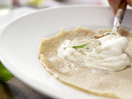 Pfannkuchen-Hähnchen-Wraps: Zubereitungsschritt 11