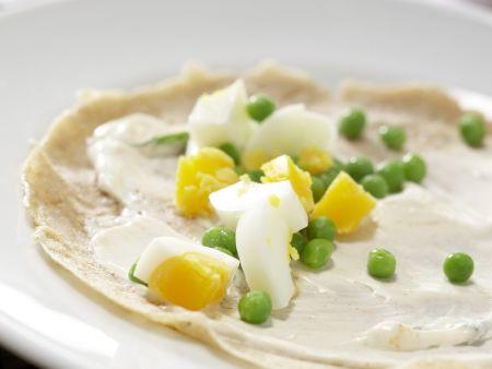 Pfannkuchen-Hähnchen-Wraps: Zubereitungsschritt 12