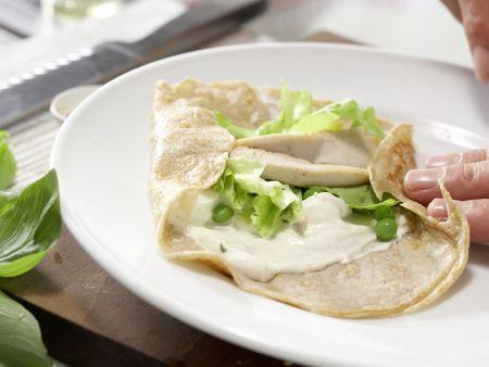 Pfannkuchen-Hähnchen-Wraps: Zubereitungsschritt 13