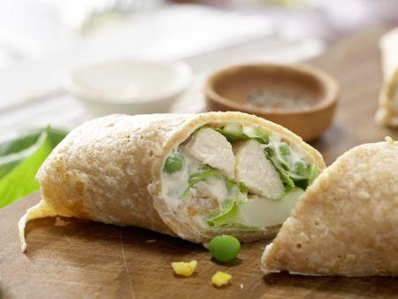 Pfannkuchen-Hähnchen-Wraps: Zubereitungsschritt 14