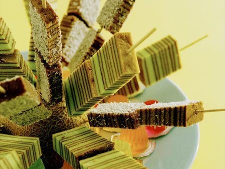 Pfannkuchen-Quarkcremespieße