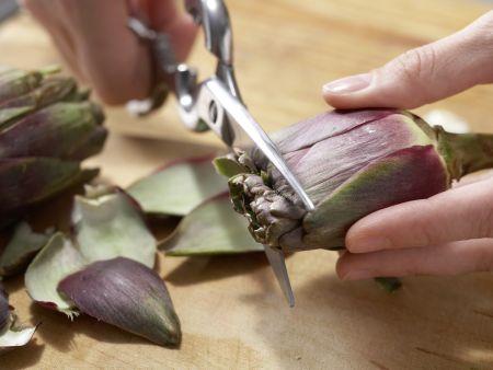 Pfifferlingssalat mit Artischocken: Zubereitungsschritt 3