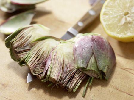 Pfifferlingssalat mit Artischocken: Zubereitungsschritt 4