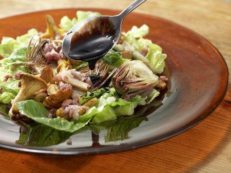 Pfifferlingssalat mit Artischocken: Zubereitungsschritt 8