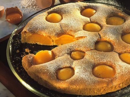 Pfirsich-Biskuitkuchen