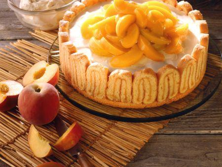 Pfirsich-Mascarpone-Torte