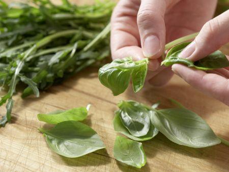 Pfirsich-Rucola-Salat: Zubereitungsschritt 1