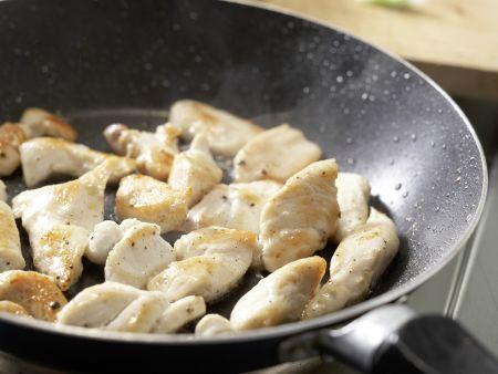 Pfirsich-Rucola-Salat: Zubereitungsschritt 6