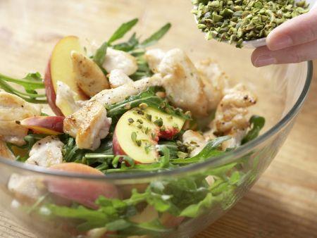 Pfirsich-Rucola-Salat: Zubereitungsschritt 8