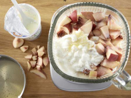 Pfirsich-Shake: Zubereitungsschritt 5
