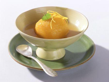 Pfirsiche in Zitronensud