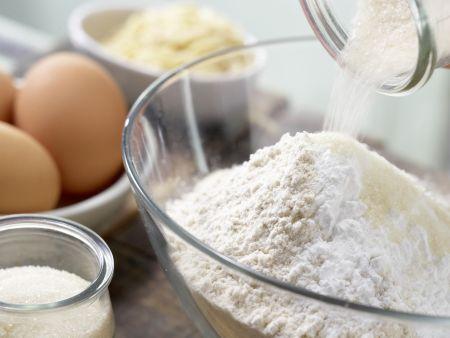 Pfirsichkuchen: Zubereitungsschritt 1