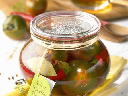 Pickles mit grünen Tomaten
