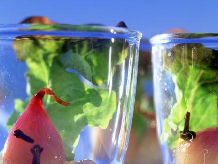 Pikant eingelegte Schalotten mit Eichblattsalat