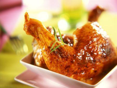 Pikant marinierte Hähnchenkeulen