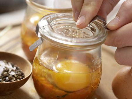 Pikante Eier im Glas: Zubereitungsschritt 9
