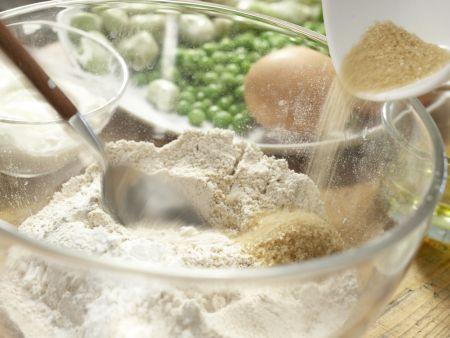 Pikante Erbsen-Bohnen-Schecke: Zubereitungsschritt 1
