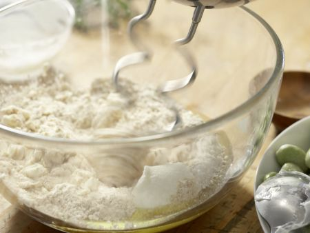Pikante Erbsen-Bohnen-Schecke: Zubereitungsschritt 2