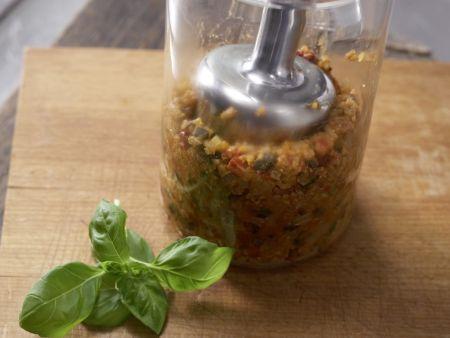 Pikante Tomaten-Grünkern-Creme: Zubereitungsschritt 8