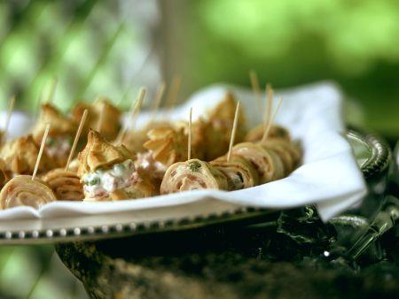 Pikante Windbeutelchen und Creperöllchen
