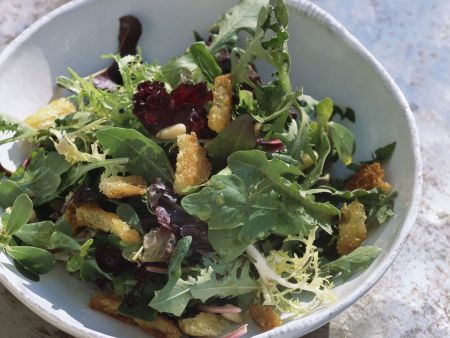 Pikanter Blattsalat