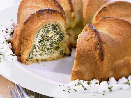 Pikanter Kuchen mit Spinat und Ricotta
