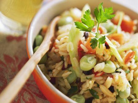 Rezept: Pilaw mit verschiedenem Gemüse und Petersilie