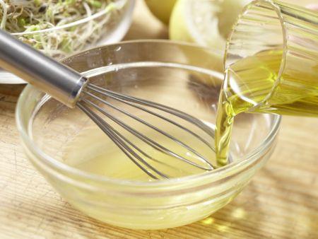 Pilz-Gratin auf Sprossensalat: Zubereitungsschritt 10