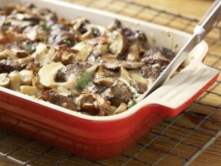 Pilz-Gratin auf Sprossensalat: Zubereitungsschritt 12