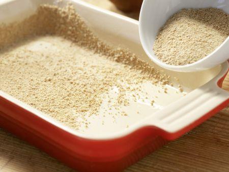 Pilz-Gratin auf Sprossensalat: Zubereitungsschritt 7