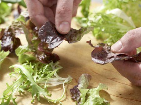 Pilz-Gratin auf Sprossensalat: Zubereitungsschritt 8