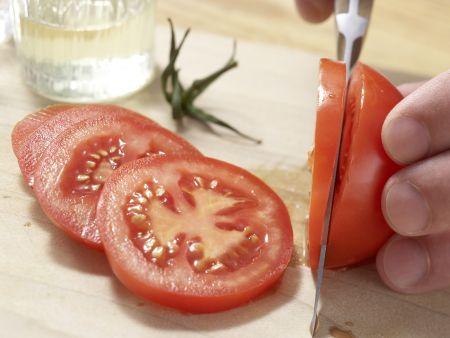 Pilz-Omelett mit Tomaten: Zubereitungsschritt 2