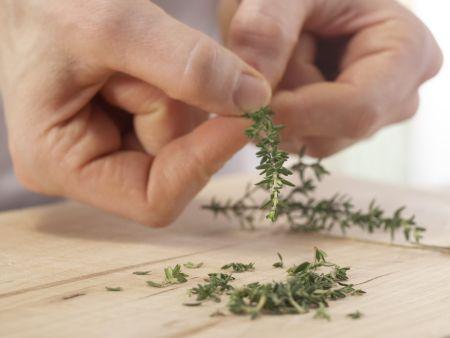 Pilz-Rührei auf Fladenbrot: Zubereitungsschritt 4