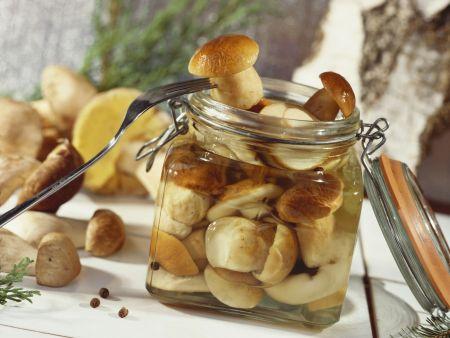 Pilze in süßer Marinade