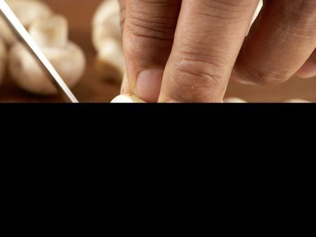 Pilzgemüse auf Kichererbsenpüree: Zubereitungsschritt 4