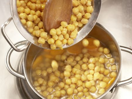 Pilzgemüse auf Kichererbsenpüree: Zubereitungsschritt 9