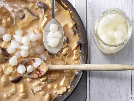 Pilzpfanne à la Crème: Zubereitungsschritt 4