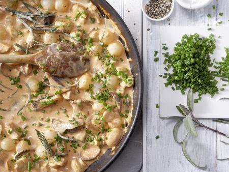 Pilzpfanne à la Crème: Zubereitungsschritt 5